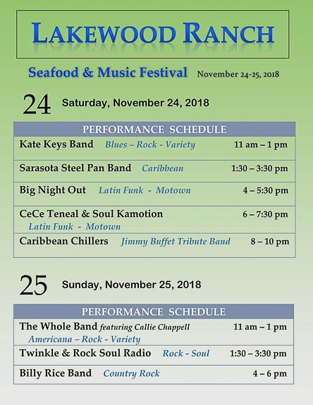 Lakewood Ranch Seafood and Music Festival in Lakewood Ranch FL