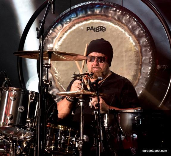 "Jason Bonham plays drums at his show ""Jason Bonham's Led Zeppelin Evening JBLZE at Clearwater FL's Ruth Eckerd Hall"