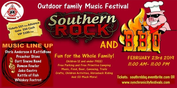 Synchronicity Festivals Presents Southern Rock and Bar-B-Q Festival