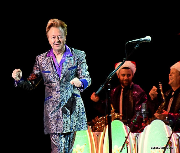 Brian Setzer and his orchestra bring holiday cheer to Ruth Eckerd Hall in Clearwater, FL