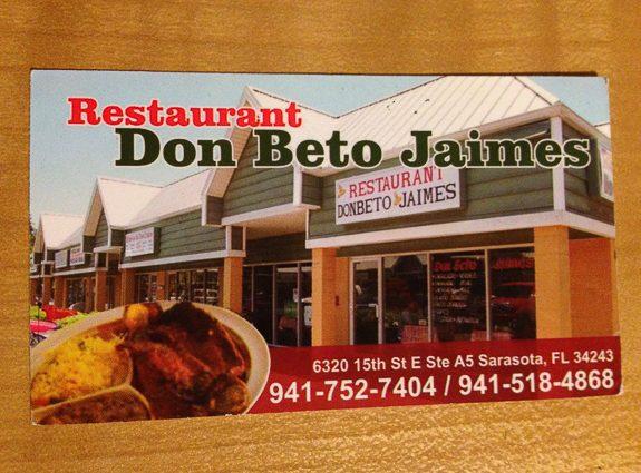 Need Tacos, Sarasota? Visit Don Beto Jaimes
