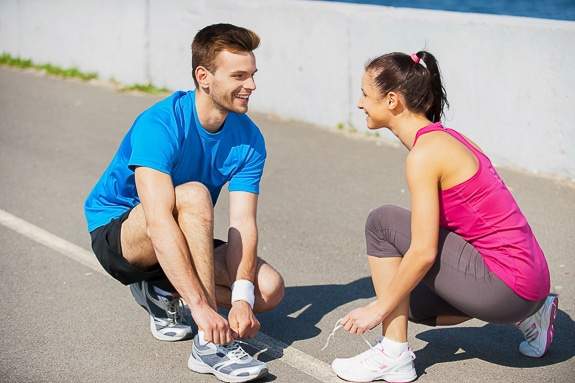Finding a workout buddy is a good way to stay motivated to getting fit.