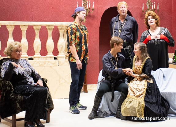 The cast of 'I Hate Hamlet' playing at The Island Players on Anna Maria Island, FL