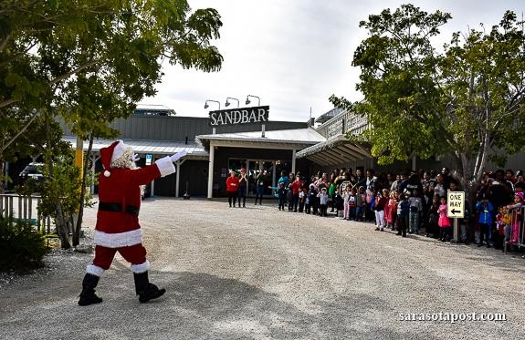 Early Christmas Presents at The Sandbar Restaurant on Anna Maria Island, FL