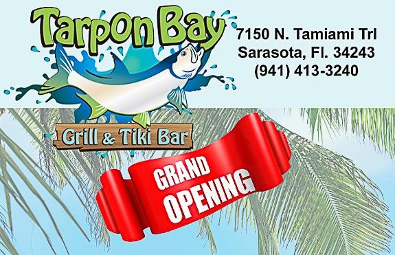 Huge Grand Opening Celebration at Tarpon Bay Grill & Tiki in Sarasota Featuring Billy Rice & Randy McKneeley Bands