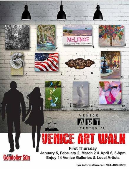 Venice Art Walk in downtown Venice, FL
