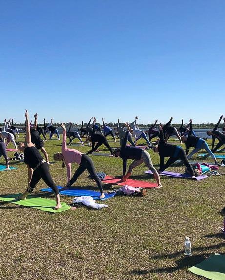 Yoga at Nathan Benderson Park by The Yoga Shack.