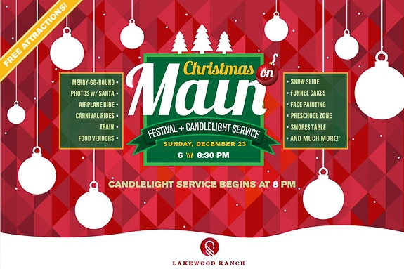 Christmas on Main hosted by Grace Community Church in Lakewood Ranch, FL