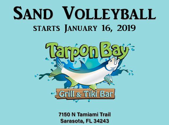 Sand Volleyball at the Tarpon Bay Grill and Tiki Bar In Sarasota