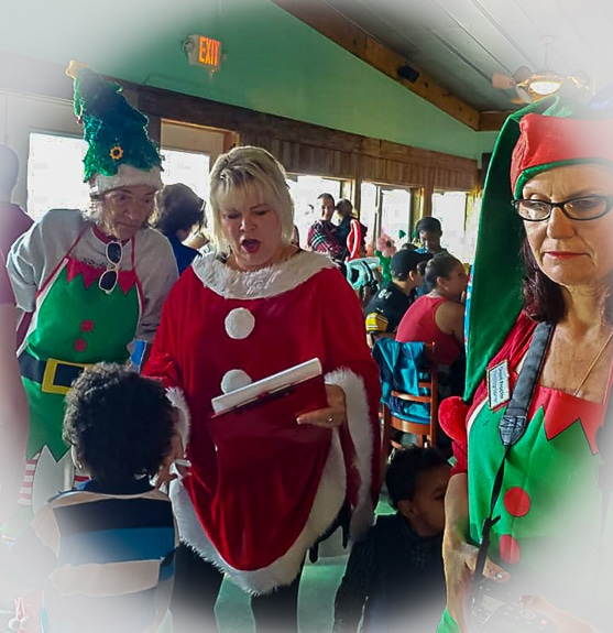 Breakfast with Santa is one of the big events Betsy Halliwell Plante is involved with.