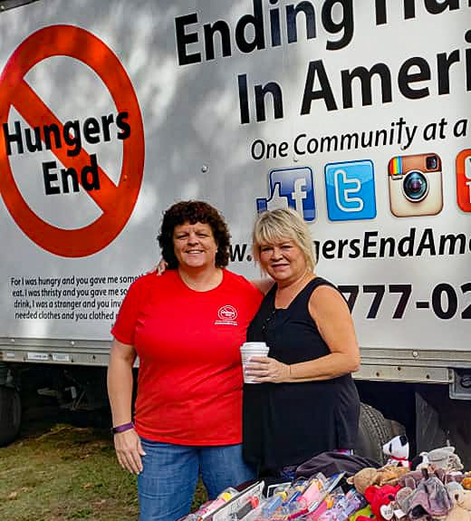 Vicky Snyder of Hungers End helps Betsy help others.