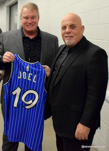 Billy Joel was presented with an Orlando Magic jersey at Amway Center.