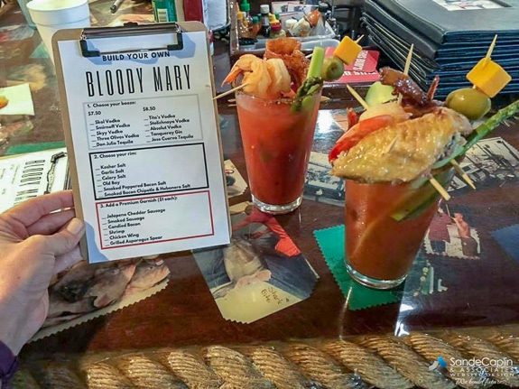 Make your own Bloody Mary at The Swordfish Grill and Tiki in Cortez, FL