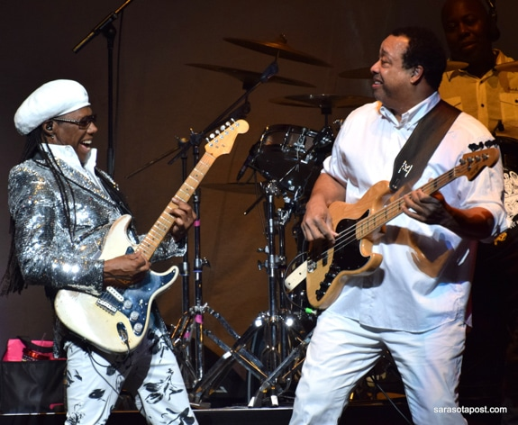 Nile rodgers and Chic got the crowd warmed up for Cher at Amway Center Orlando FL