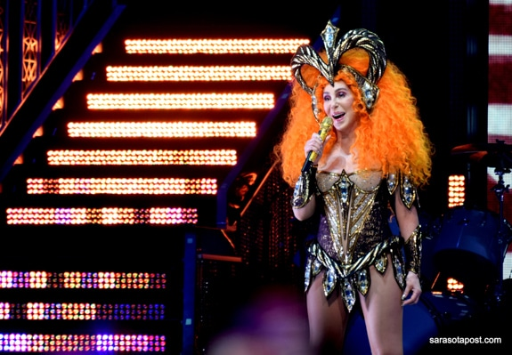 Cher rocks her costumes just as well as she did 20 years ago.