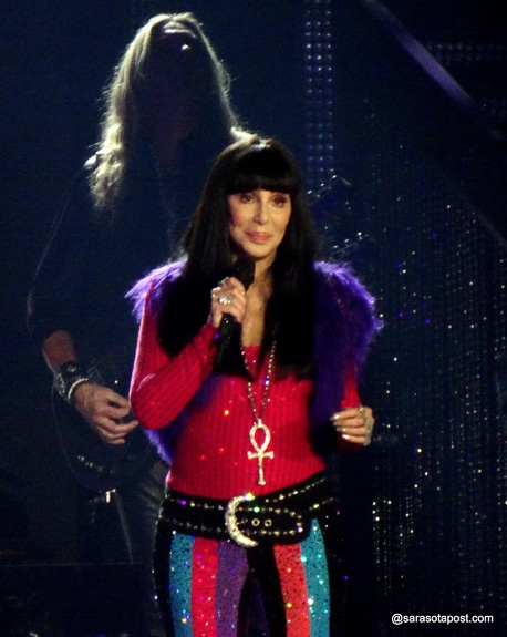 Cher performs at the Hertz Arena in Fort Myers, Fl