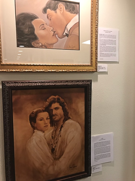 Jane Seymour's exhibit includes her watercolor collection of films she has done.