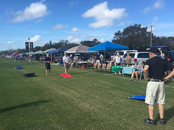 Tailgating at the Sarasota Polo fields.
