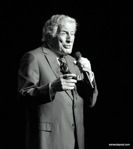 Tony Bennett came to Van Wezel Performing Arts Center in Sarasota, FL in 2018