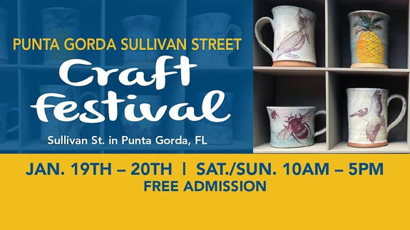 Craft Festival in Punta Gorda, FL is on the Peace River and Gulf of Mexico.