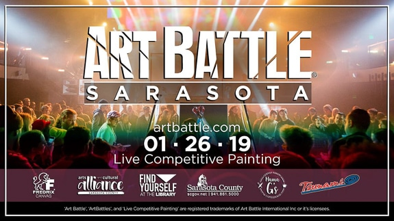 Art Battle Sarasota will be at Selby Public Library in Sarasota, FL