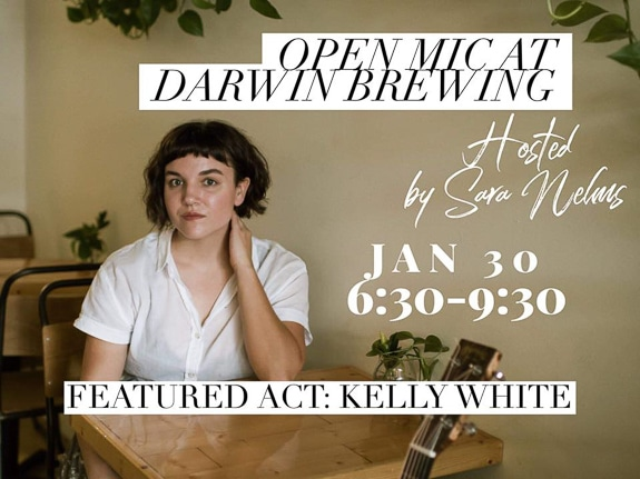 Open Mic with Sara Nelms featuring Kelly White at Darwin Brewing Company in Bradenton, FL