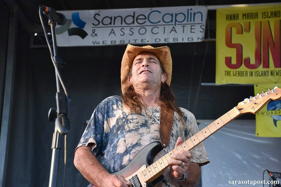 Chris Anderson playing at Cortez Stonecrab Festival in Cortez, FL