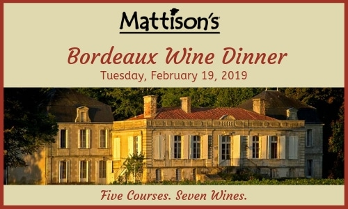 Mattison's Hosts Exclusive Bordeaux Wine Pairing Dinner in Sarasota, FL