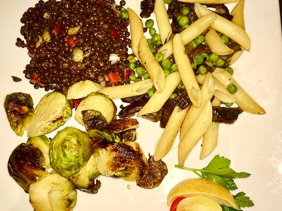 Vegan entree at Ortygia Restaurant in Bradenton, FL