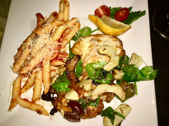Pollo con Carciofli at Ortygia Restaurant in Bradenton, FL