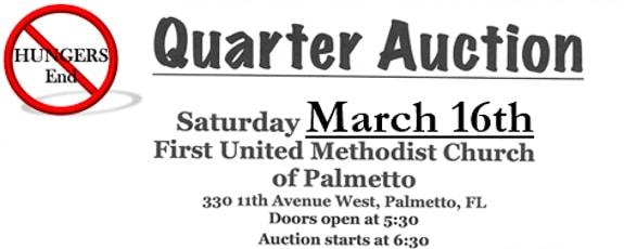 Hungers End Inc Semi-Annual Quarter Auction in Palmetto, FL