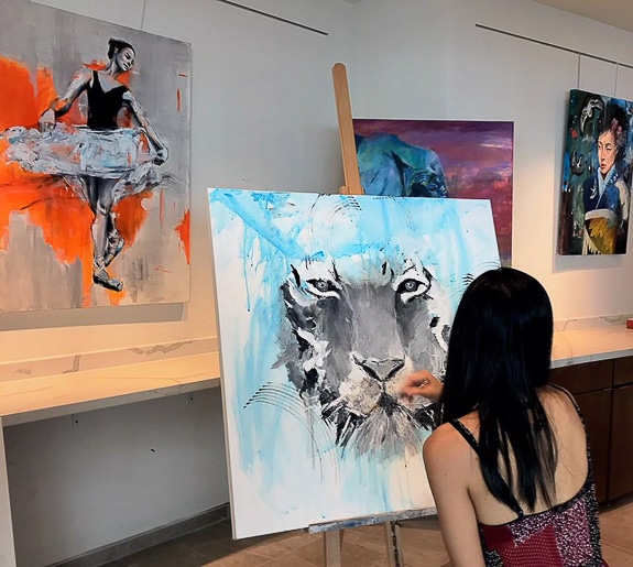 Art Ovation Hotel showcases a variety of artists in Sarasota, FL