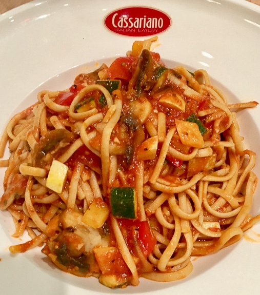The Linguine Integrali all'Ortolana at Cassariano in Sarasota, FL is delicious!
