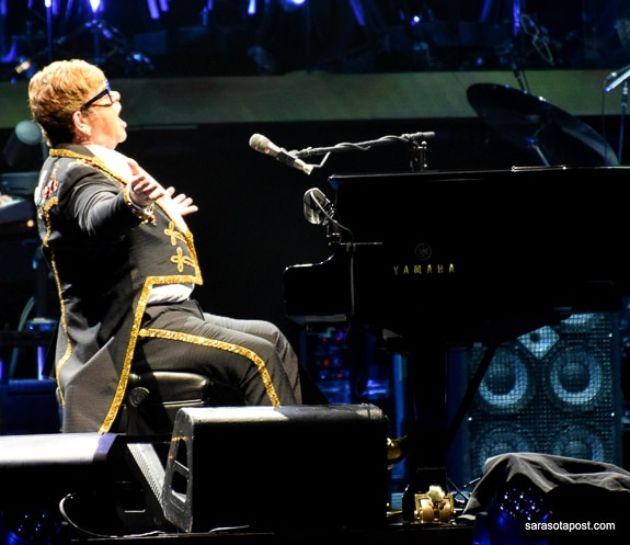Sir Elton John performs his farewell tour in Orlando, FL at the Amway Center.