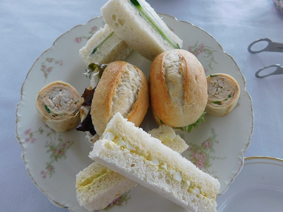 Tea sandwiches are served at Royal Tea by the Bay by Simply Gourmet Catering at Mote Marine in Sarasota, FL