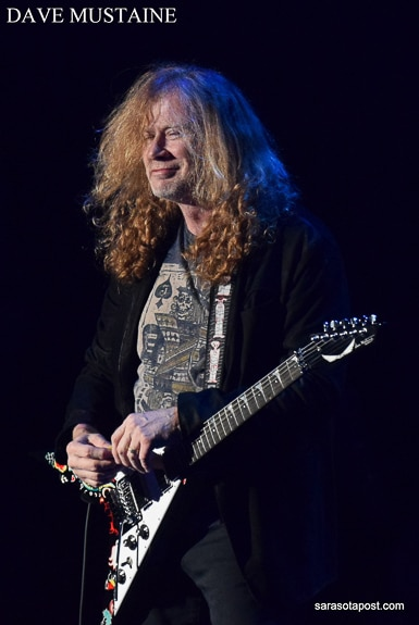 Dave Mustaine plays the Experience Hendrix concert at Ruth Eckert Hall in Clearwater, FL