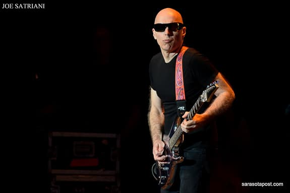 Joe Satriani plays guitar at the Experience Hendrix concert at Ruth Eckert Hall in Clearwater, FL