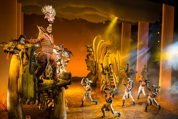 The costumes in The Lion King at The Van Wezel in Sarasota, FL are masterpieces of art.