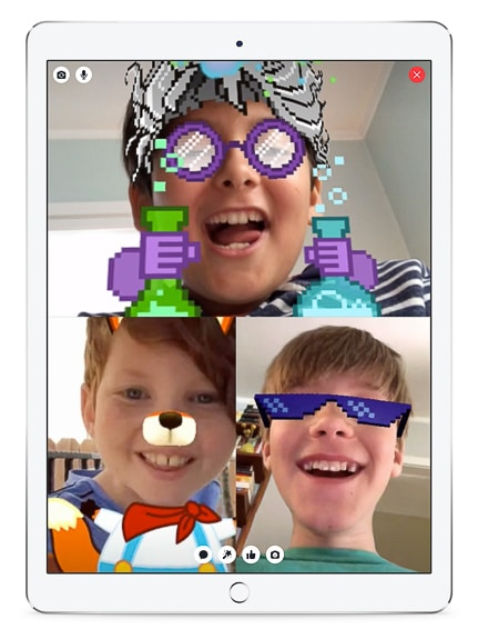 Messenger Kids App  allows children the freedom to add cute masks to videos without Facebook.