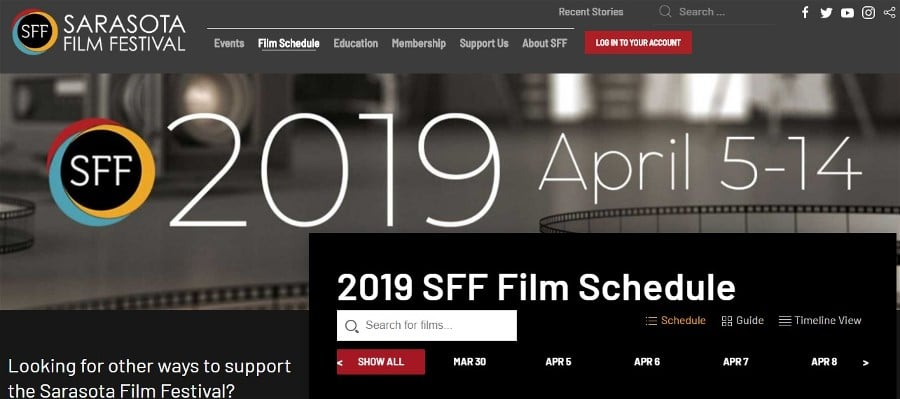 Sarasota Film Festival Launches New Website