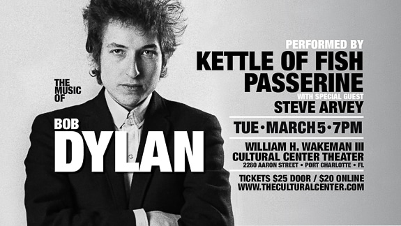 Music Of Bob Dylan Concert In Port Charlotte at the Cultural Center of Charlotte County, Inc. in Port Charlotte, FL