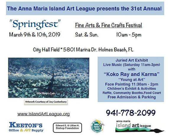 """Springfest"" Fine Arts & Fine Crafts Festival at Anna Maria Island Art League in Holmes Beach, FL"