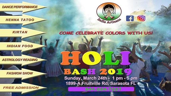 Holi, Festival of Colors! at India Artisans in Sarasota, FL