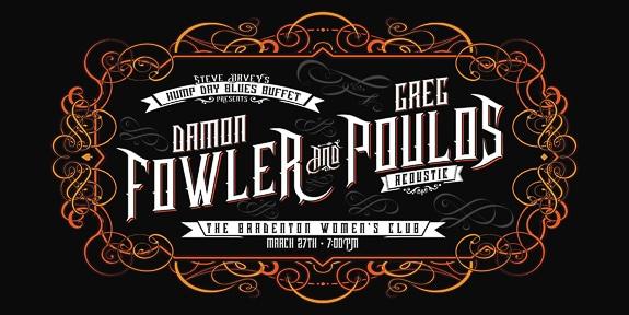 Damon Fowler & Greg Poulos - Acoustic Show at The Bradenton Women's Club in Bradenton, FL