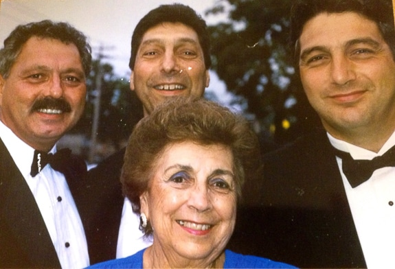 The Valvano brothers with their Mom, Angelina.