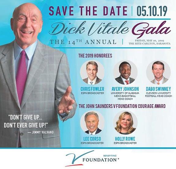 Save the Date for Dick Vitale Gala in Sarasota, FL