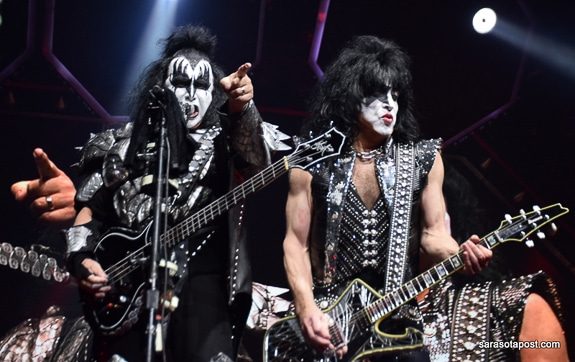 KISS in the farewell tour at The Amalie Arena in Tampa, FL