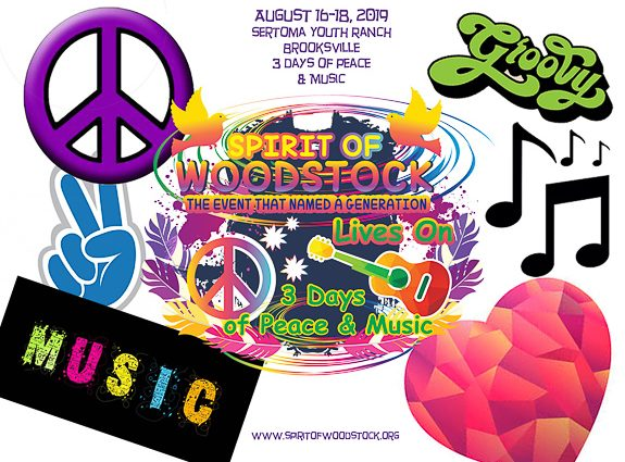 Inaugural Spirit of Woodstock Summer of Peace, Love & Music In Brooksville, FL