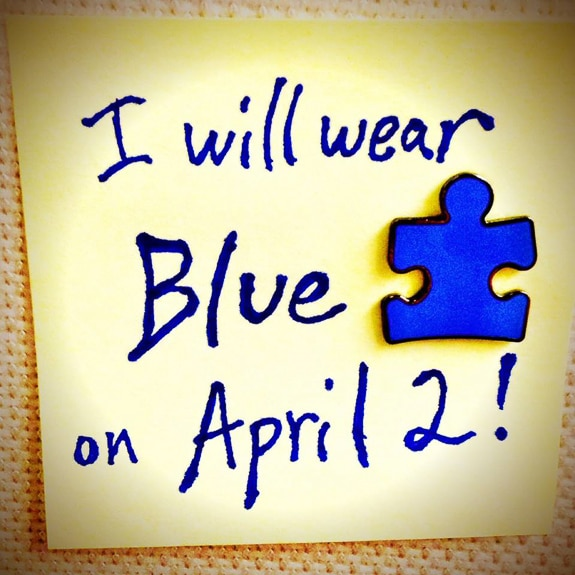 People will be wearing blue to bring awareness to autism on Autism Awareness Day