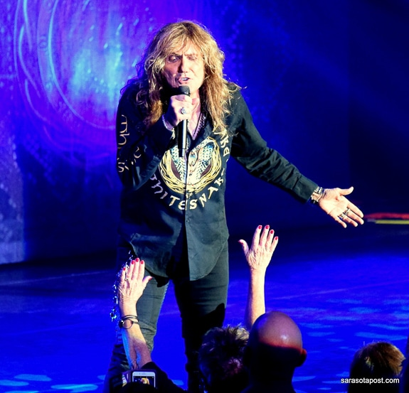 David Coverdale, vocalist for Whitesnake, rocks at Clearwater, FL's Ruth Eckerd Hall.